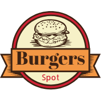 Vintage selection of burger logos 3