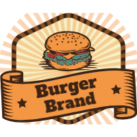 Vintage selection of burger logos 1