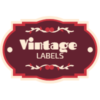 Set of labels in vintage style 2