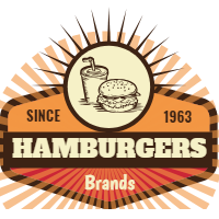 Vintage selection of burger logos 2