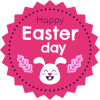 Easter day badges collection in flat style 5